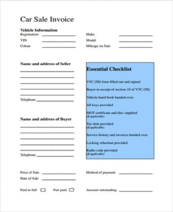 Car/Auto Repair Service Invoice Template Sample Invoice Service Invoice Template Examples