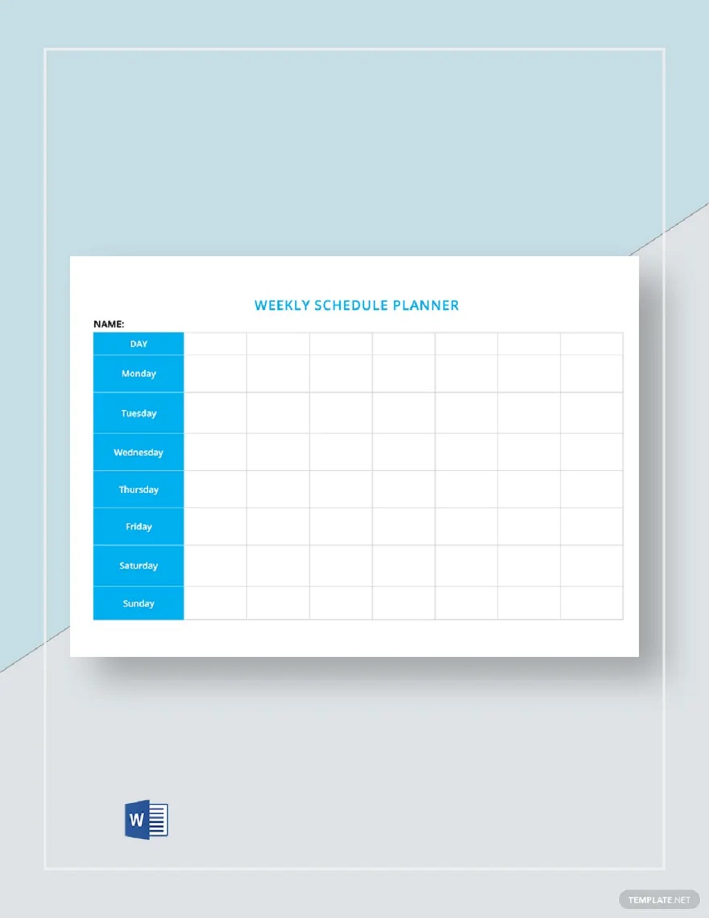 Free Blank Weekly Schedule Sample Template Planner Printable Google Sheets Searches Related To Excel  Samples Large