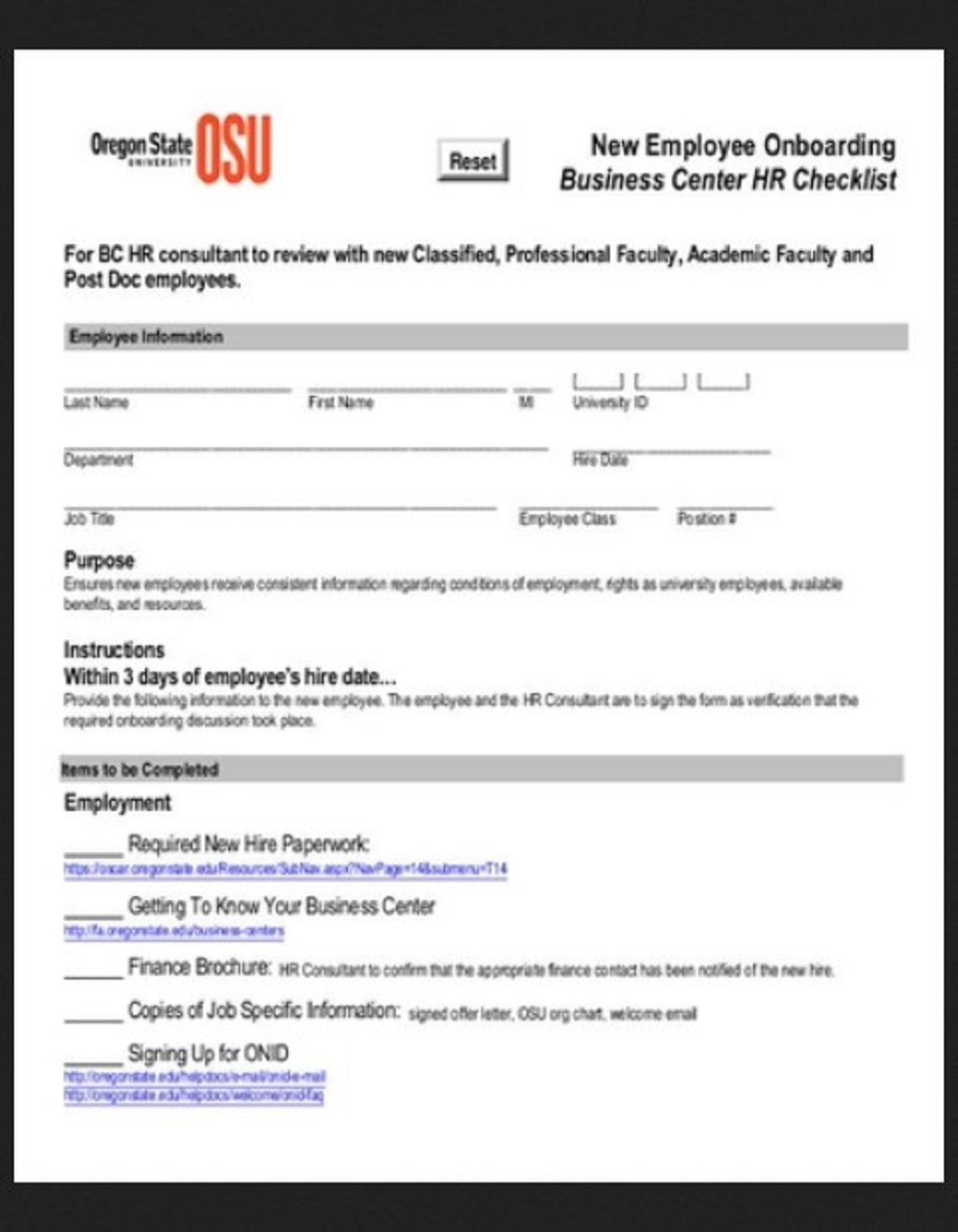 Business Center HR Checklist Template Example Form Hr Daily For Audit Strategies Startups Excel Documents  Examples Large