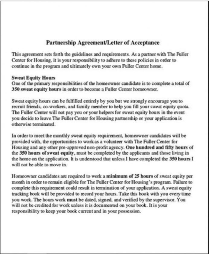 Business Partnership Acceptance Letter Template Sample Format In Word Of Job From Employer College School  Interesting