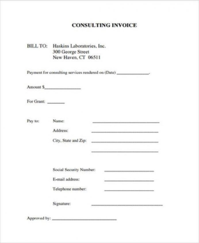 Consulting Service Invoice Template Example Invoice Service Invoice Template Examples