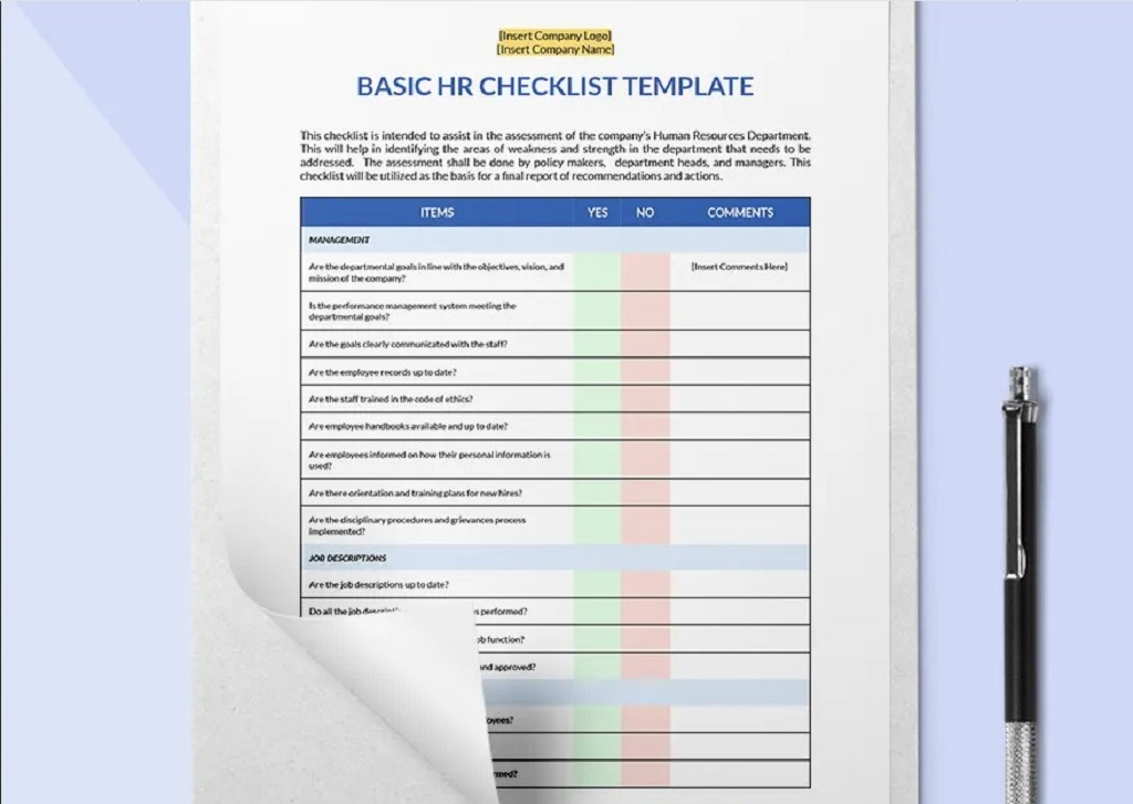 Free Basic HR Checklist Template Example Form Hr Daily For Audit Strategies Startups Excel Documents  Examples Large