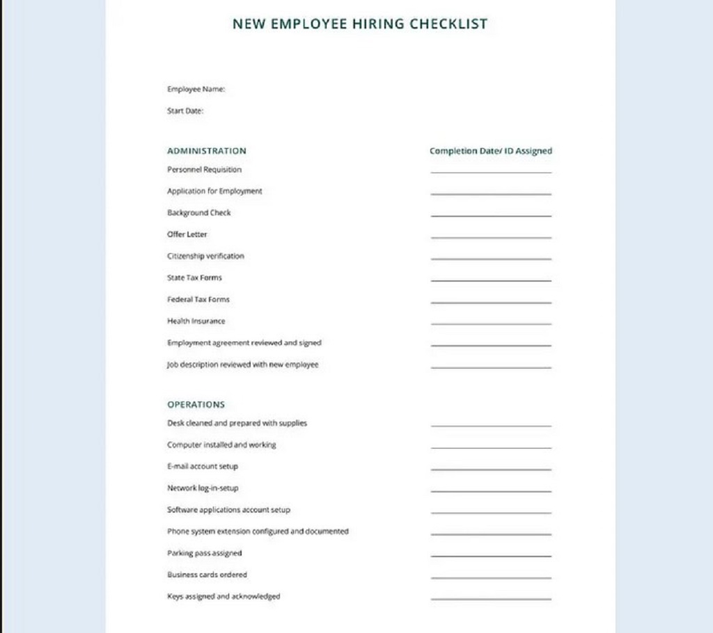 Free HR Checklist For Office Administration Hr Daily Audit Strategies Startups Template Excel Documents  Examples Large