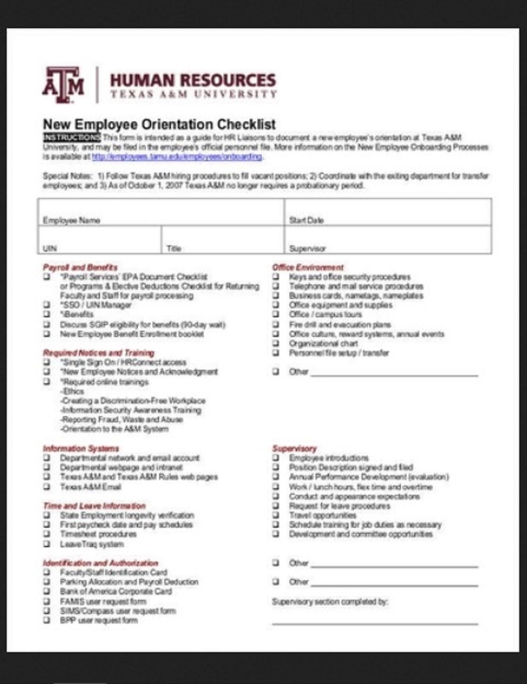 HR New Employee Orientation Checklist Template Example Form Hr Daily For Audit Strategies Startups Excel Documents  Examples Large