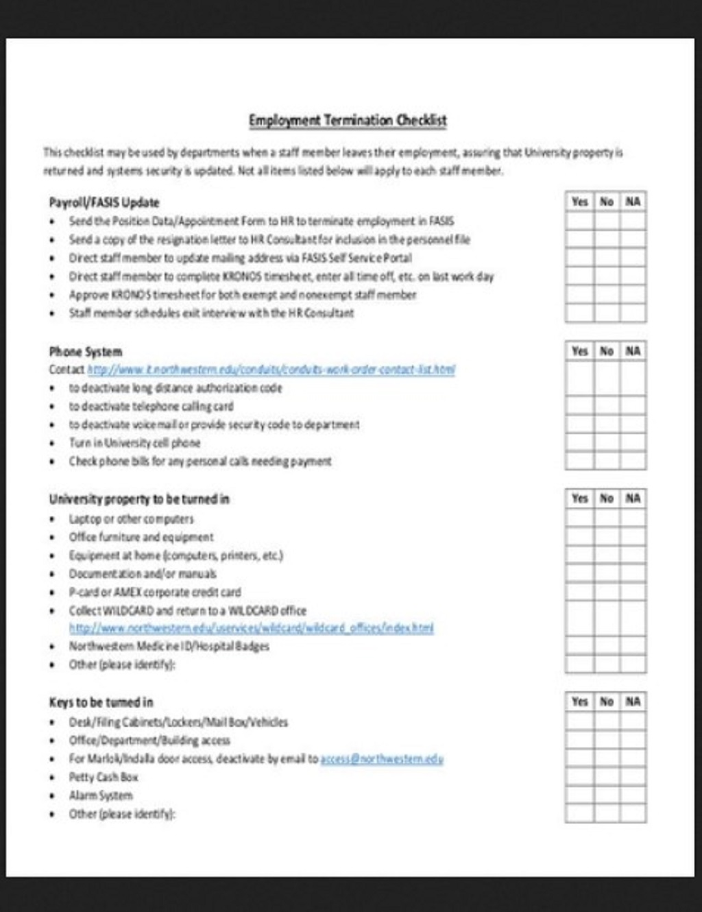 HR Termination Checklist Template Example Form Hr Daily For Audit Strategies Startups Excel Documents  Examples Large