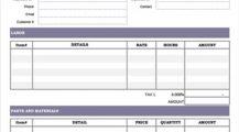 HVAC Maintenance Agreement Invoice Template Example Sample Invoice HVAC Invoice Template Examples