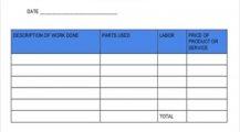 HVAC Maintenance Service Invoice Template Example Sample Invoice HVAC Invoice Template Examples