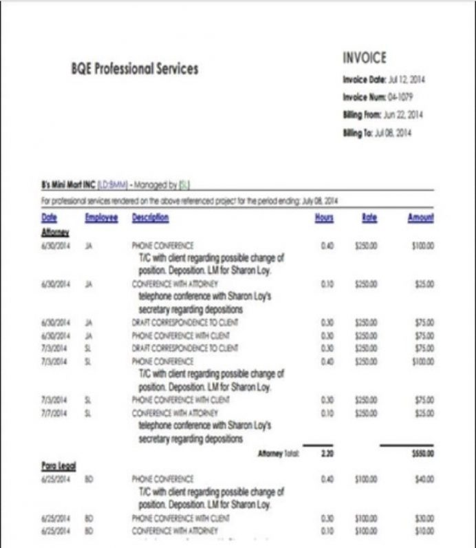 Hourly Service Invoice Template Sample Invoice Service Invoice Template Examples