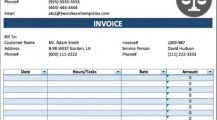 Legal Service Invoice Template Sample Invoice Service Invoice Template Examples