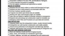 Office Safety Checklist Template Sample Form Checklist Safety Checklist Template Examples