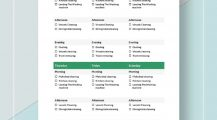 Printable Daily Cleaning Schedule Template Sample Schedule Cleaning Schedule Template Examples