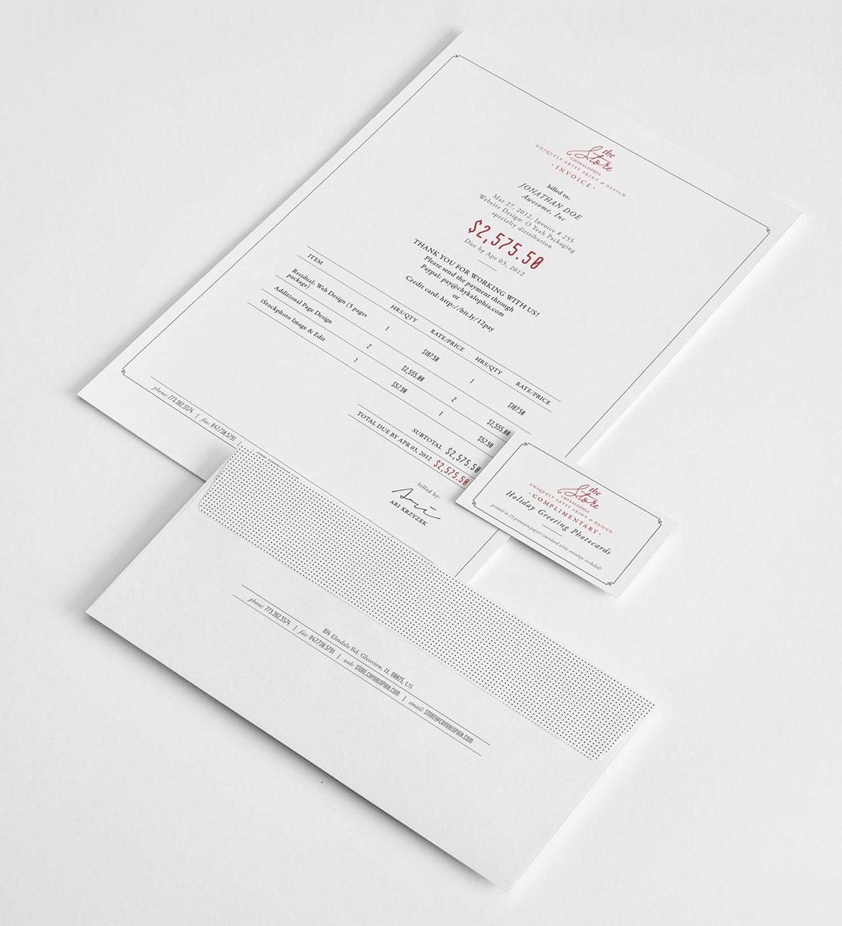 Professional Invoice Template by Ari Krzyzek