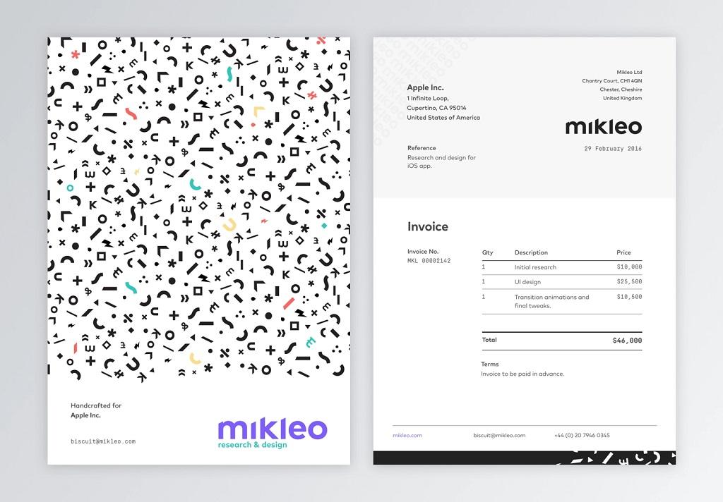 Professional Invoice Template Mikleo by Fabio Basile