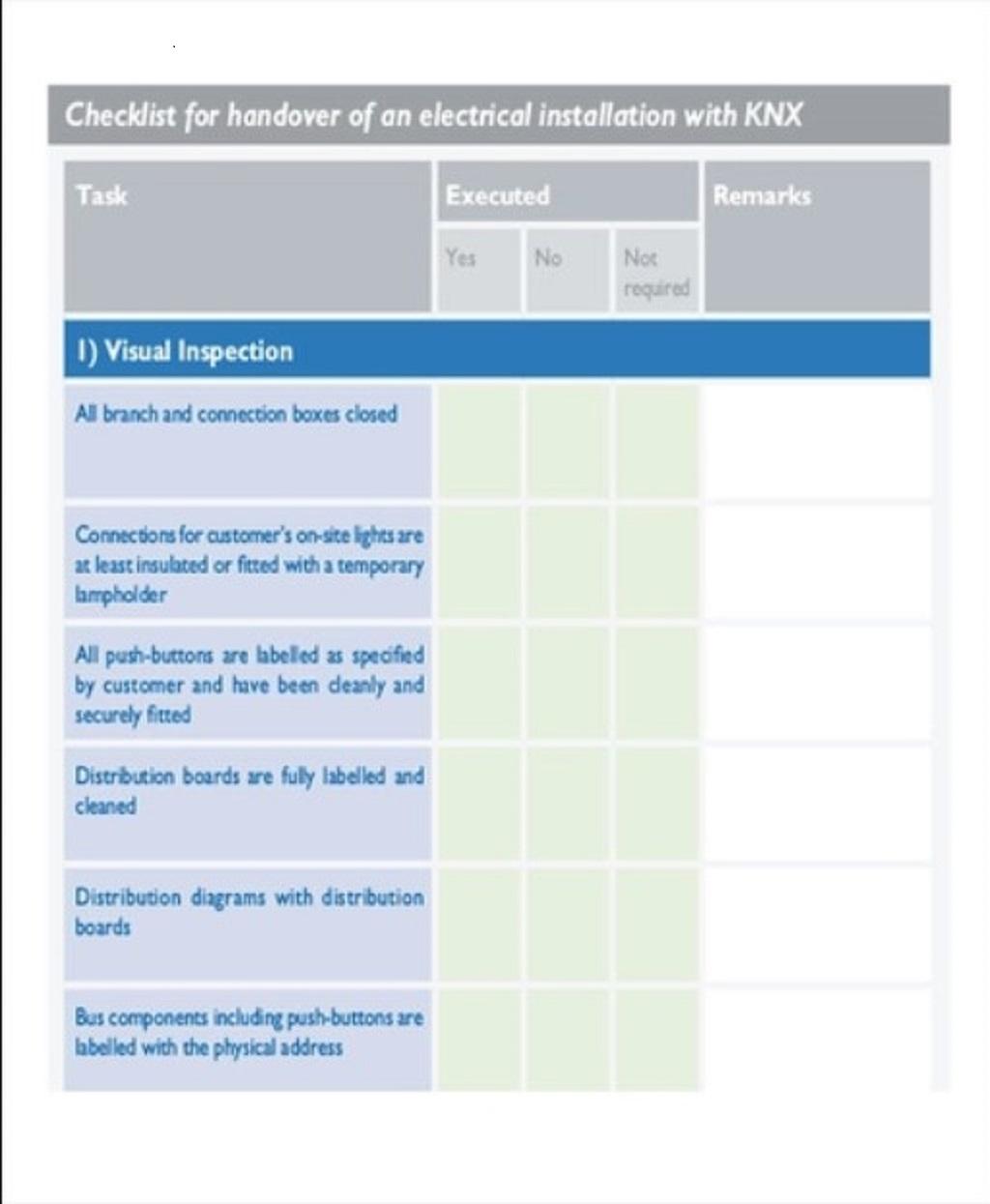 Project Handover Checklist Sample PDF