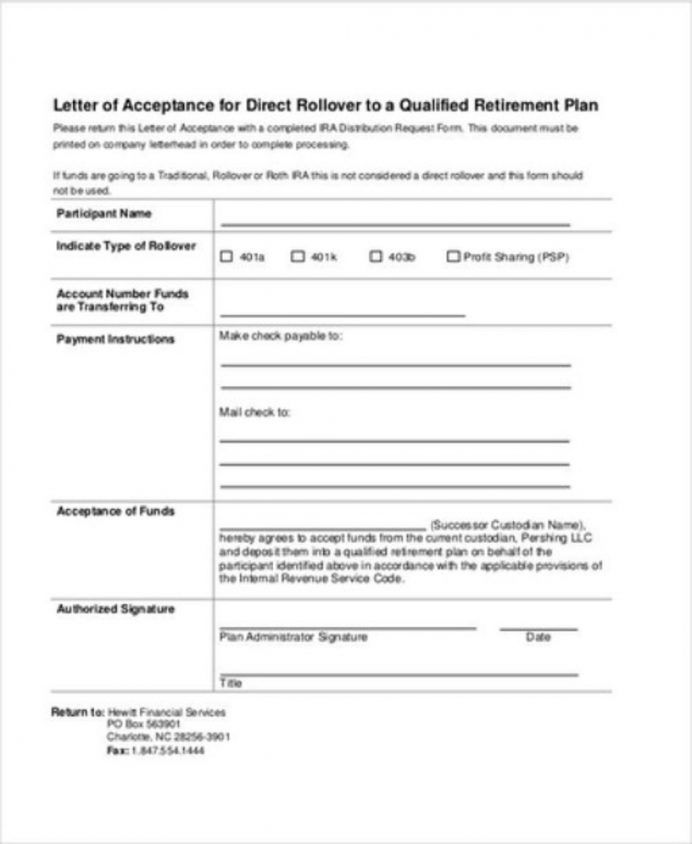 Retirement Plan Letter Of Acceptance Template Sample Format In Word Job From Employer College School  Interesting