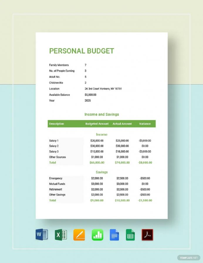 Simple Personal Budget Template Sample Example Budget Personal Budget Template Examples