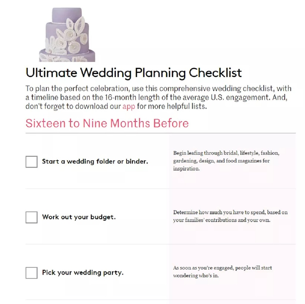 Detailed Wedding Planning Checklist Template Format Sample Example