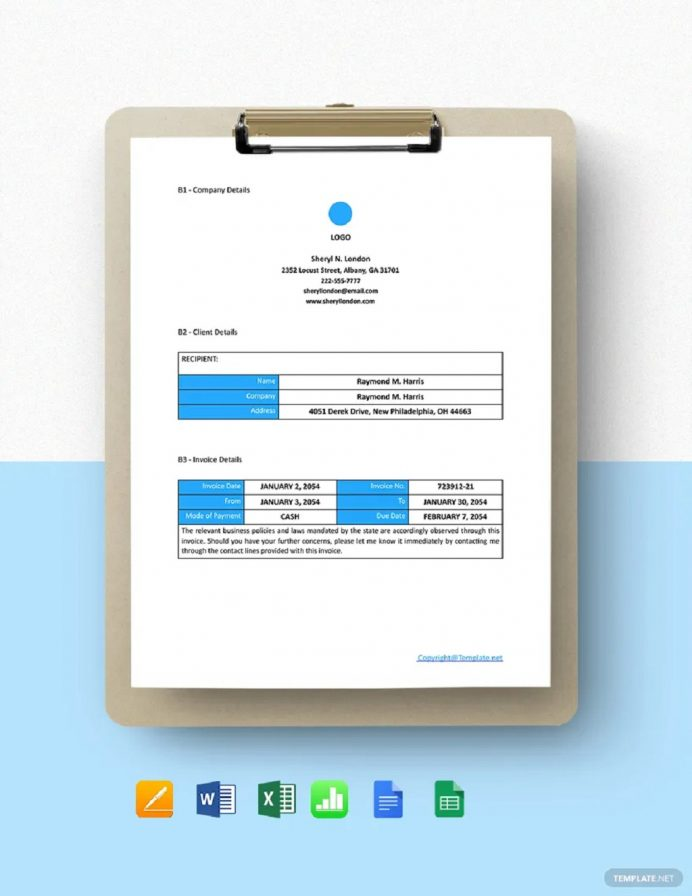 Free Blank Freelance Invoice Template Example Sample Invoice Freelance Invoice Template Examples