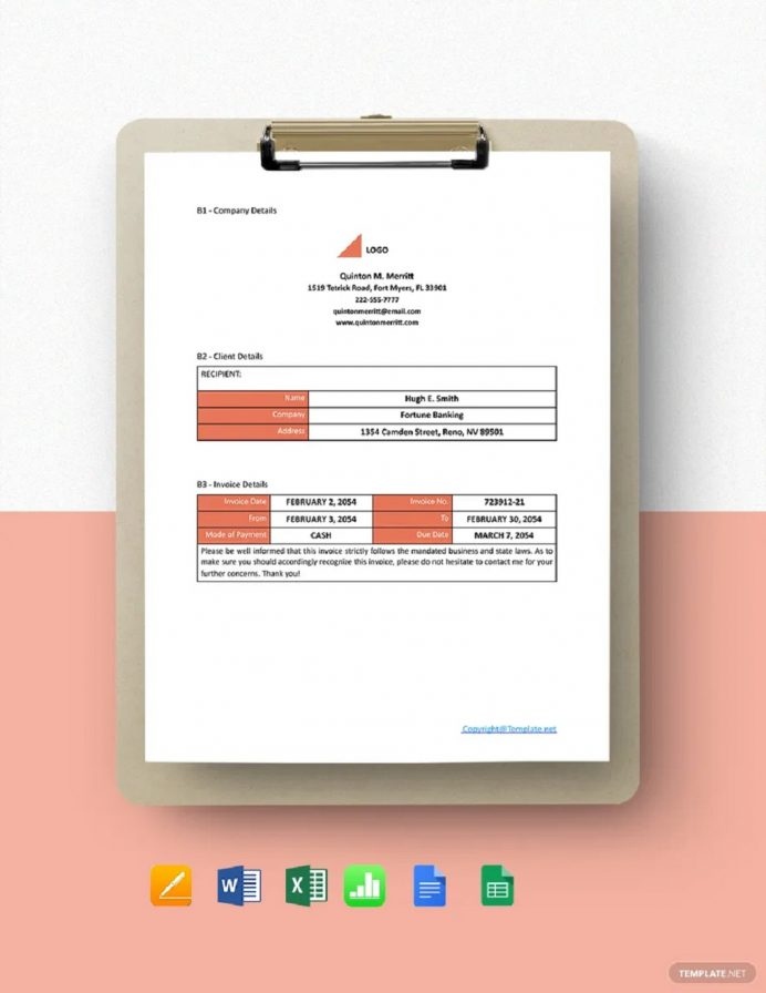 Free Simple Freelance Invoice Template Example Sample Invoice Freelance Invoice Template Examples