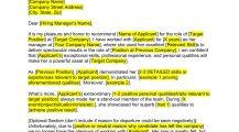 Job Letter Recommendation From Supervisor Letter Job Recommendation Letter Template Samples