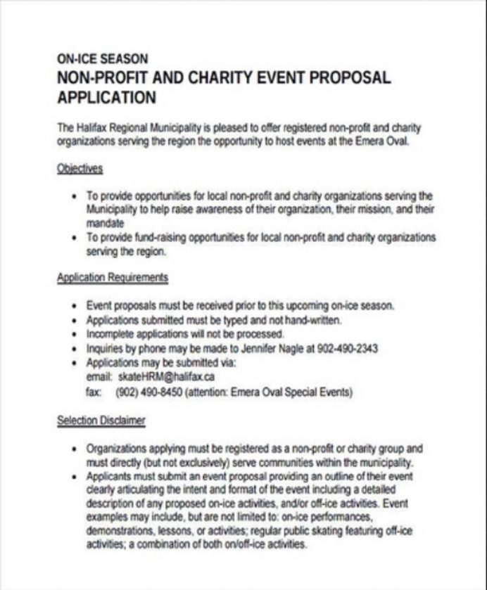 Non-Profit Charity Event Proposal Template Example Sample Proposal Non-Profit Proposal Template Examples