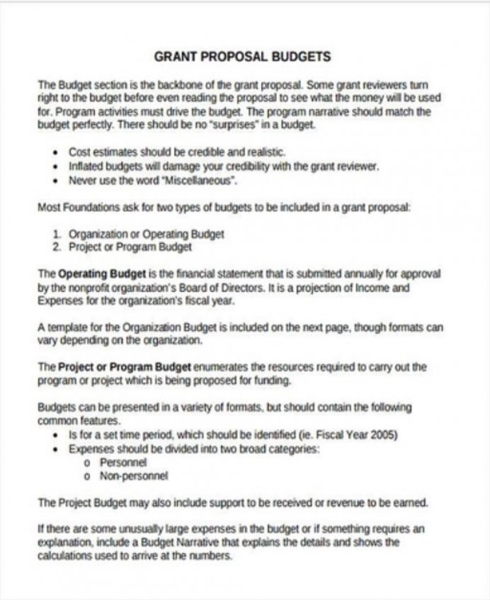 Non-Profit Project Grant Proposal Template Example Sample Proposal Non-Profit Proposal Template Examples
