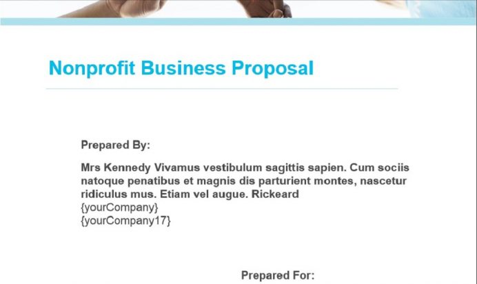 Non profit Business Proposal Template Example Sample Proposal Non-Profit Proposal Template Examples