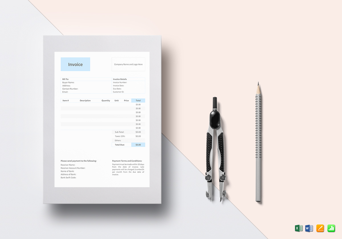 Photography Self Employed Invoice Template Sample Example