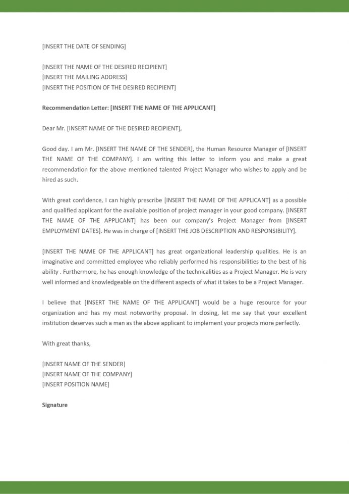 Recommendation Letter From Manager For College Sample Student Format Teacher Employee  Template Samples