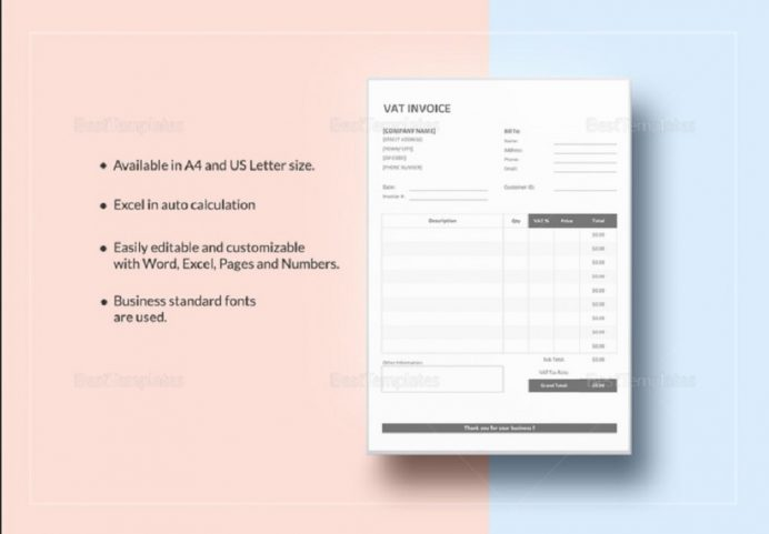 Simple VAT Invoice Template Form Example Sample Invoice Tax Invoice Template Samples