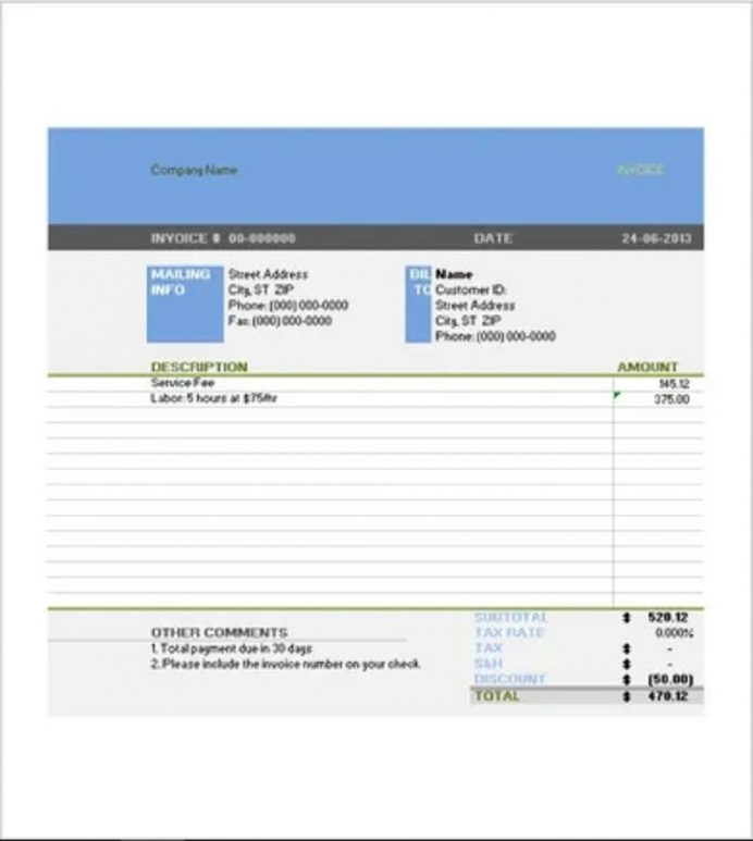 Tax Invoice Template Word DOCX Format Form Example Sample Invoice Tax Invoice Template Samples