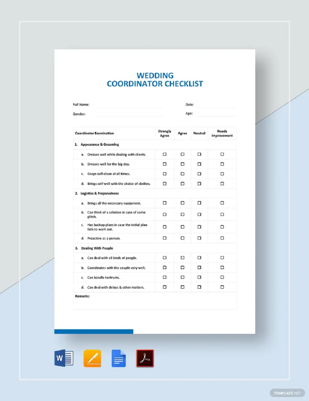 Wedding Coordinator Checklist Template Format Sample Example