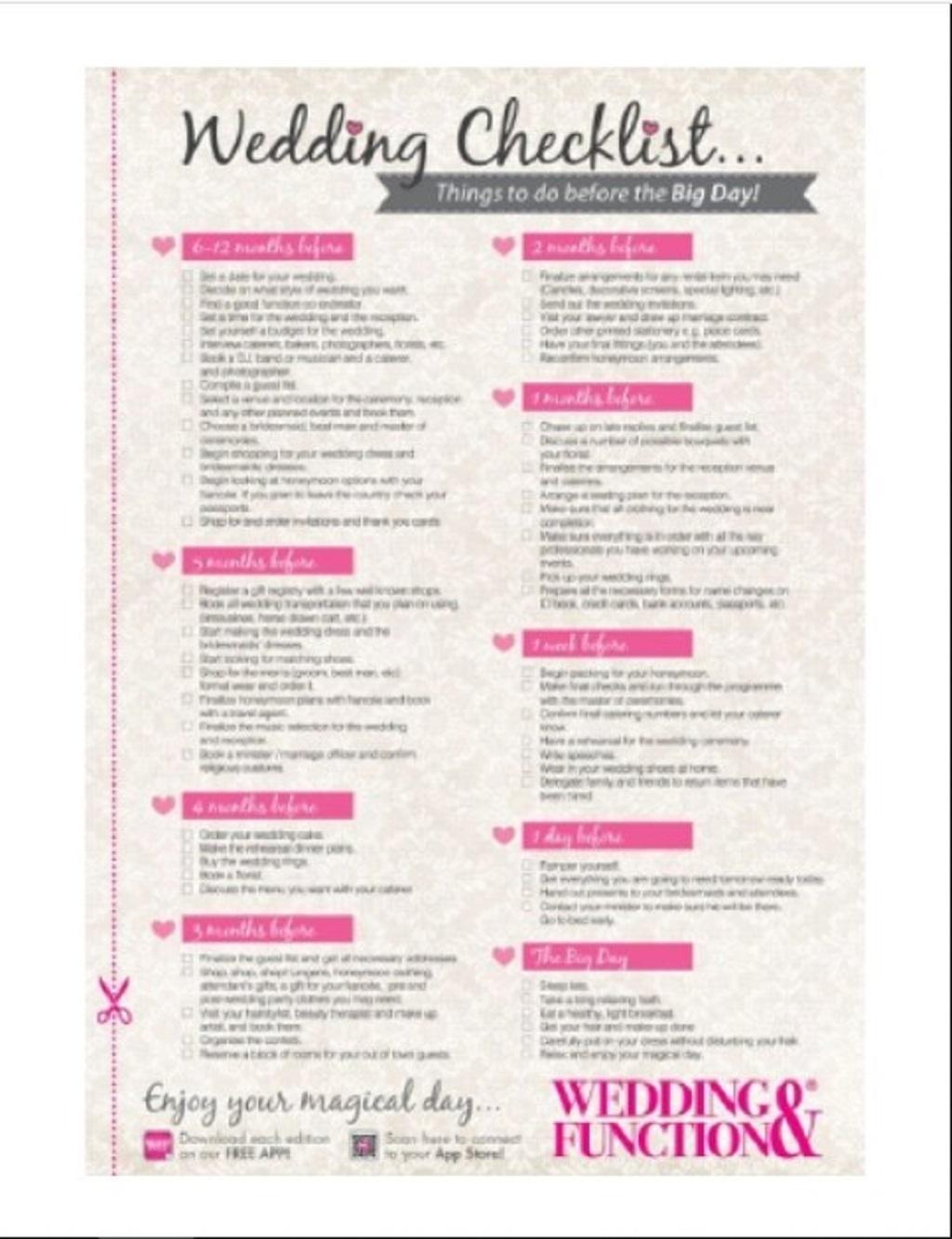 Wedding Preparation Checklist Template Format Sample Example