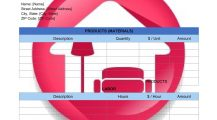 Interior Design Invoice Template Billing Word Invoice Example Interior Design Invoice Template