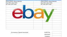 eBay Invoice Format  PDF Template Invoice eBay Invoice Template Example