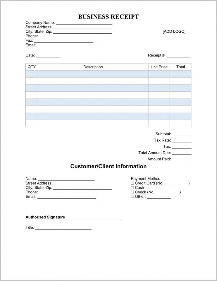 Business Receipt Template Word Sample Doc, Official Template, Cash Pdf, Word,