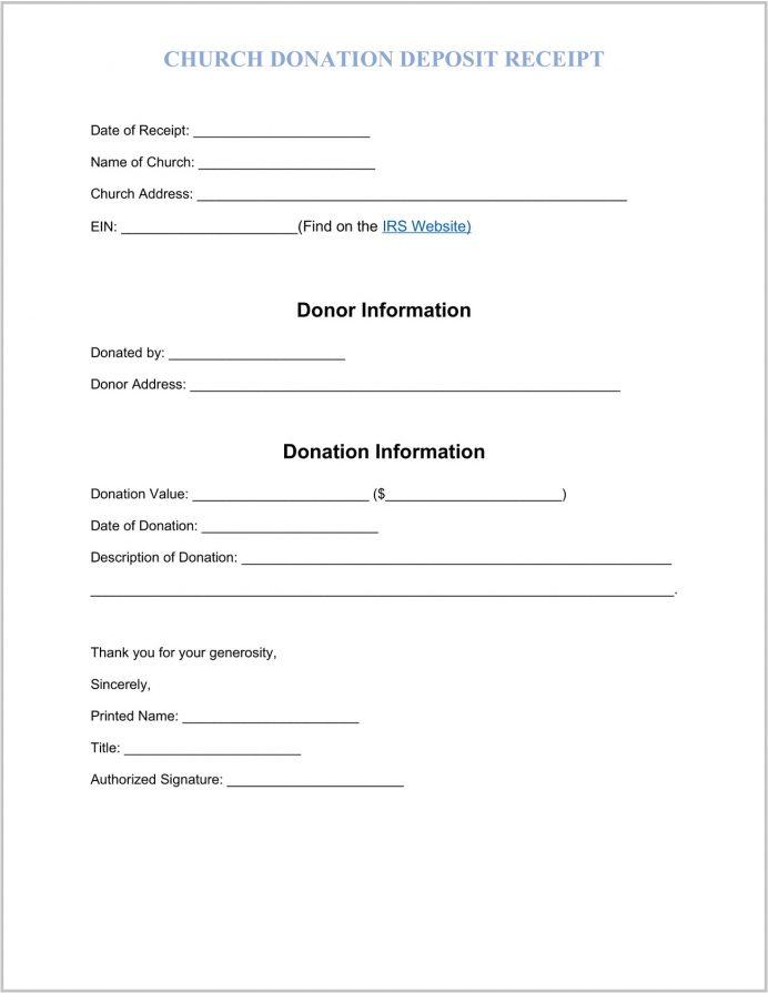 Church Donation Receipt Template Word Receipt Church Donation Receipt Template Sample