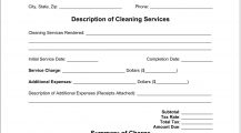 Cleaning Service Receipt Template Word Receipt Cleaning Service Receipt Template Sample