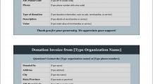 Donation Invoice Template Word Invoice Donation Invoice Template Example