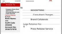 PR Consultant Invoice Template Word Invoice PR (Public Relations) Consultant Invoice Template Sample