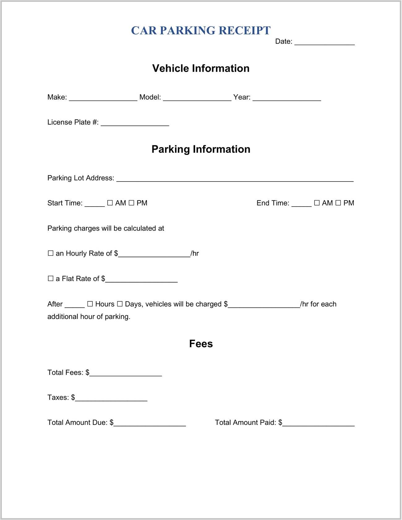 Parking Receipt Template Word Slip Sample Free Generator Lot Receipts Pdf  Example Full