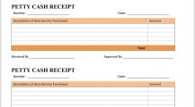 Petty Cash Receipt Template Word 4 Page Receipt Petty Cash Receipt Template Example