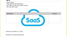 SaaS Invoice Template Word Invoice Software as a Service (SaaS) Invoice Template Sample