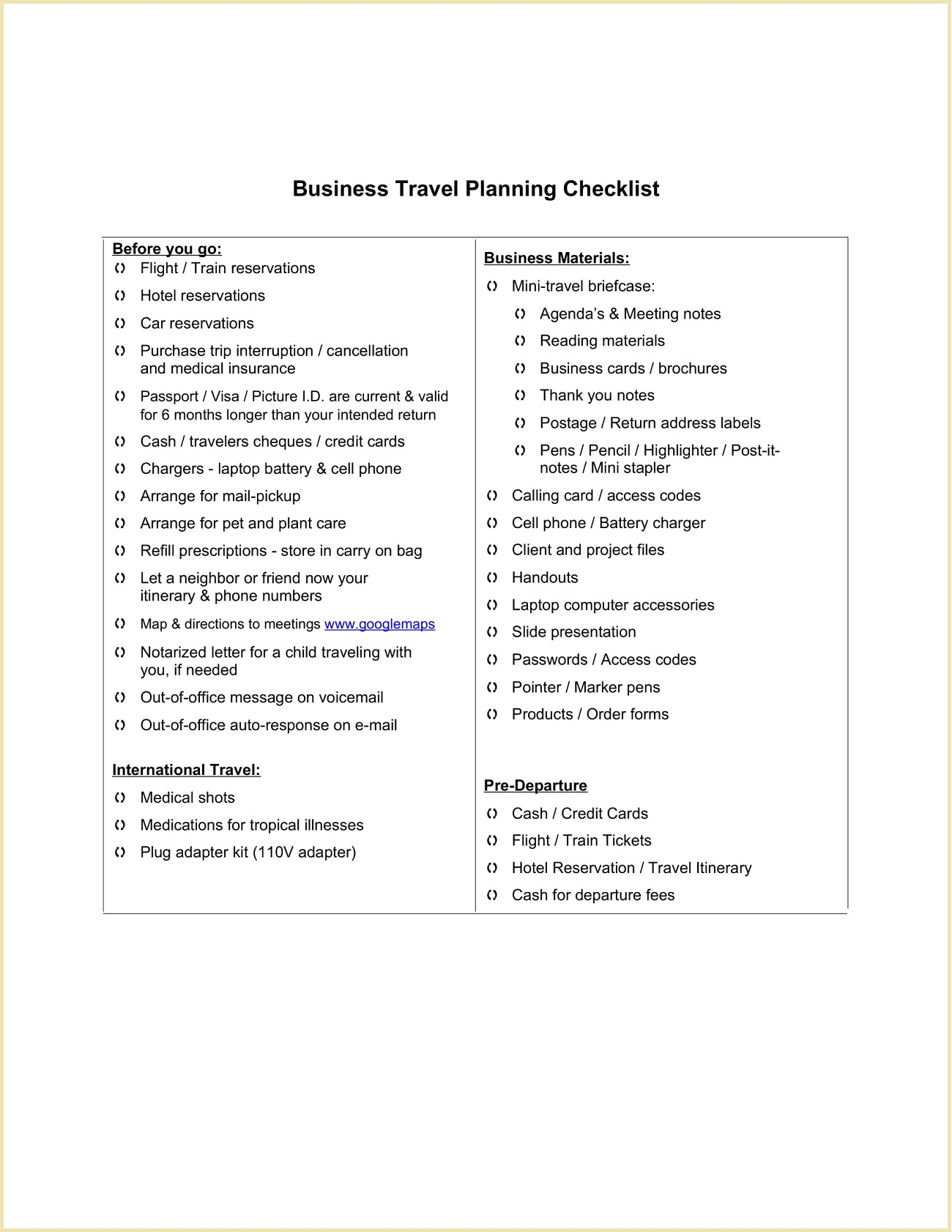 Business Travel Planning Checklist Template Word Doc Executive Assistant Covid-19 Packing Tips Pdf  Example Full