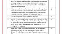 Resignation Checklist Sample Form Word Template Checklist Resignation Checklist Template Example