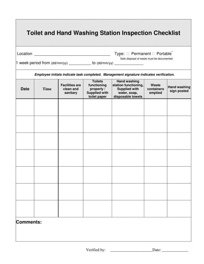 Toilet Washroom Inspection Checklist Template PDF Checklist Bathroom/Toilet and Washroom Cleaning Inspection Checklist Template Example