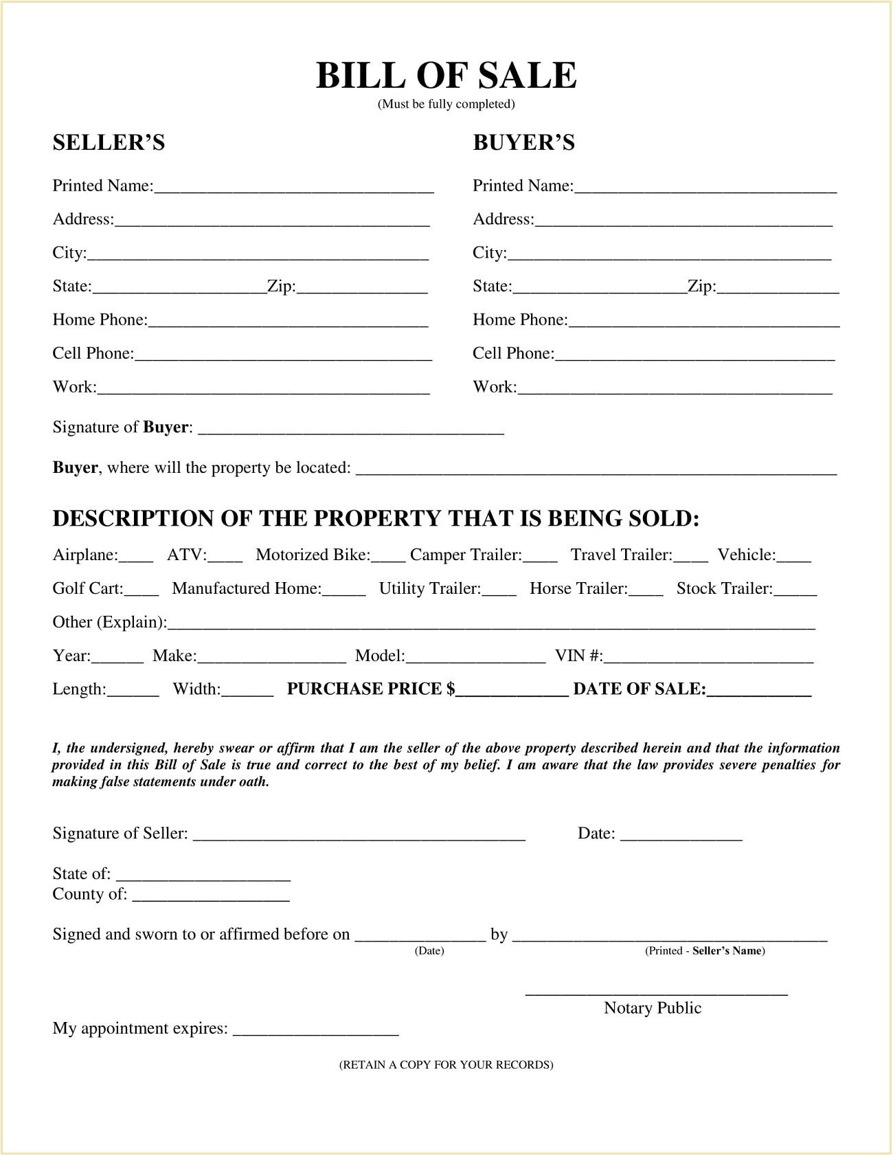 Barton County Kansas Motor Vehicle Bill of Sale Template PDF