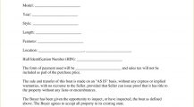Boat Bill of Sale Template PDF Bill Of Sale Sample Boat (Vessel) Bill of Sale Form Template