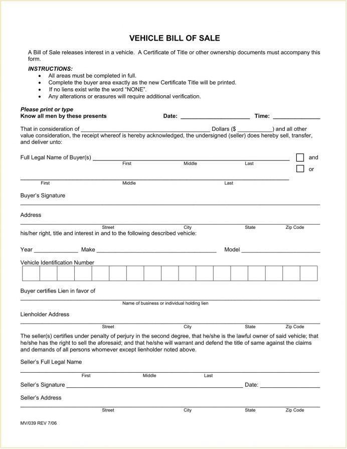 El Paso County Colorado DMV Motor Vehicle Bill of Sale Form PDF Bill Of Sale Colorado Motor Vehicle Bill of Sale Form Template