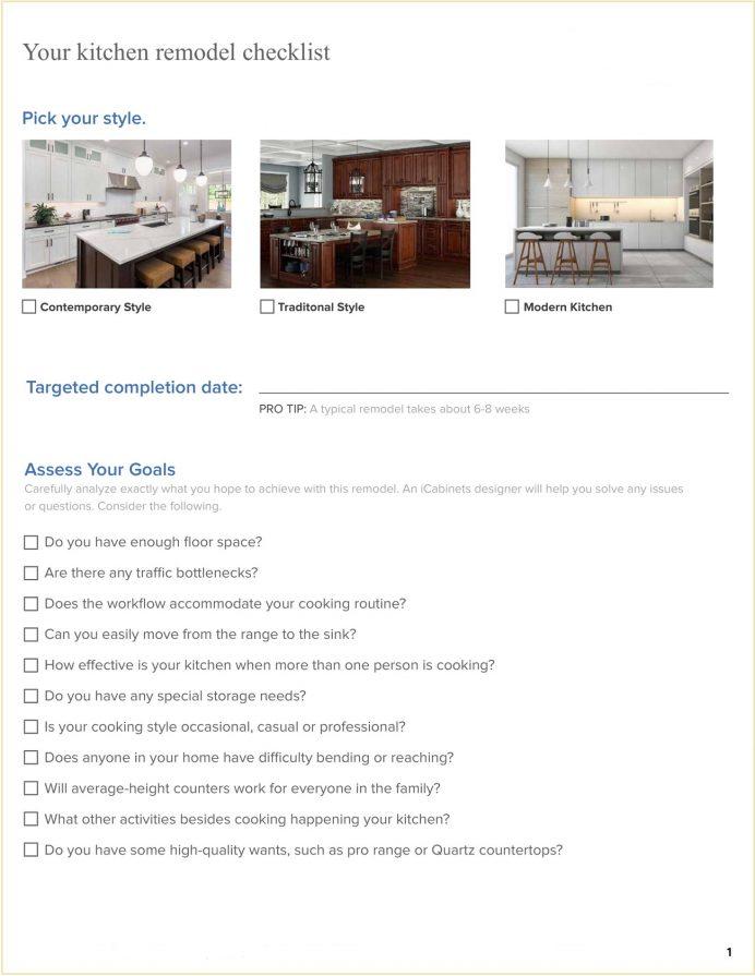 Complete Kitchen Remodeling Management Checklist template PDF Checklist Sample Kitchen Remodeling Checklist Template
